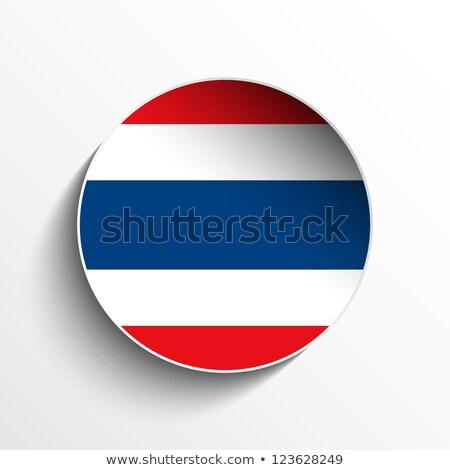 Tajlandia · banderą · papieru · kółko · cień · przycisk - zdjęcia stock © gubh83