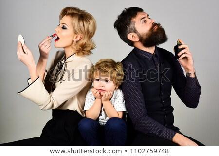 triste · criança · falta · idéias · sessão · tabela - foto stock © doupix