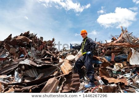 Métal recycler écologique usine environnement déchets Photo stock © lunamarina