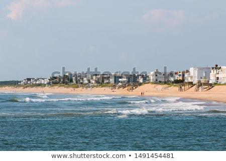 коттедж · пляж · песчаный · тропе · щетка · ведущий - Сток-фото © arenacreative