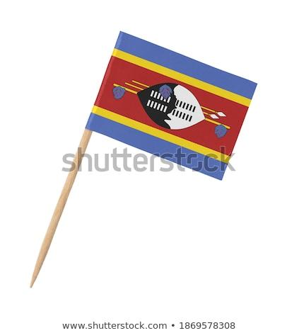 Minyatür bayrak Svaziland yalıtılmış mavi Stok fotoğraf © bosphorus