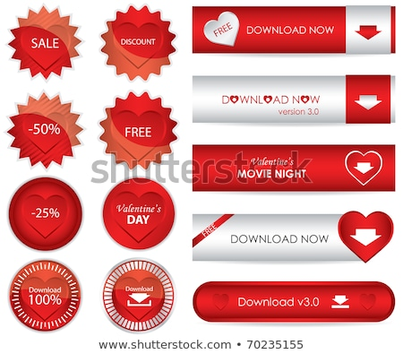 Set valentine's day buttons, love Internet signs Stock photo © Ecelop