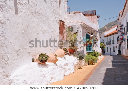 Street in Benalmadena Pueblo, Spain stock photo © tboyajiev