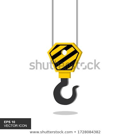 Construction grue crochet industrielle Photo stock © stevanovicigor
