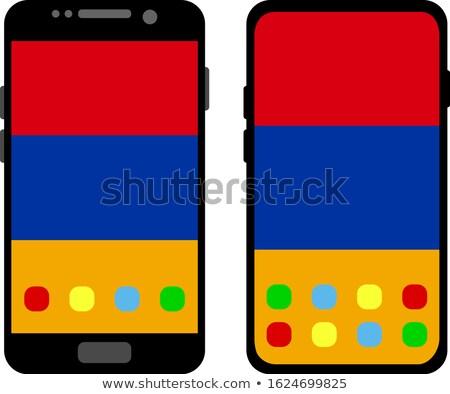 Botão Armênia bandeira telefone quadro Foto stock © lirch