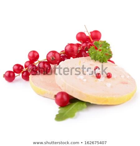 christmas · gans · diner · vers · fruit · salie · geserveerd - stockfoto © m-studio