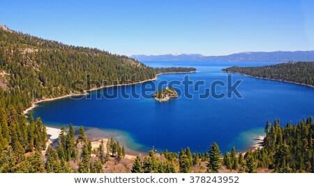 Zümrüt göl Kaliforniya gökyüzü su orman Stok fotoğraf © Bertl123
