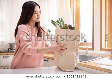 魅力のある女性 ショッピング 紙袋 肖像 少女 ストックフォト © dukibu