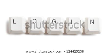 palabra · icono · teclado · botón · tecnología - foto stock © fotoscool