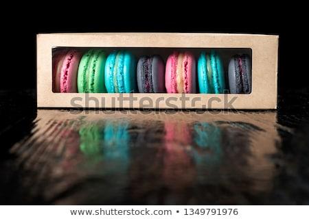 Makaróni sütik édes színes elöl háttér Stock fotó © badmanproduction