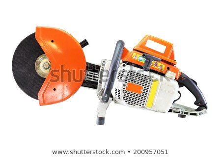 Stock photo: very old saw on white background