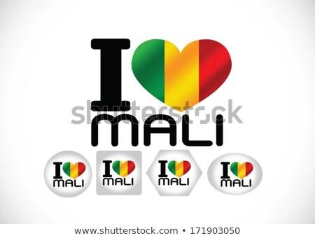 республика Мали флаг темы Идея дизайна Сток-фото © kiddaikiddee