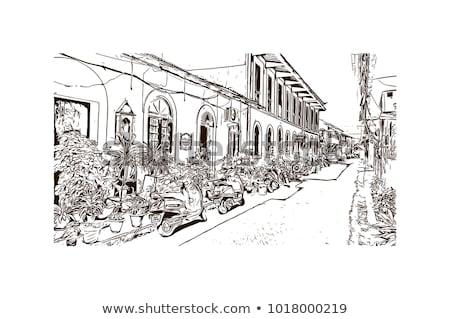 Eski sömürge evler goa Hindistan ev Stok fotoğraf © travelphotography
