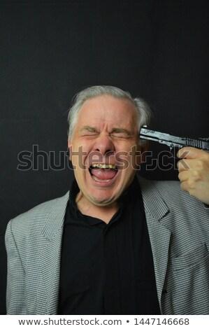 Senior man schieten hoofd communicatie zelfmoord Stockfoto © bmonteny