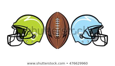 Kroki kask amerikan futbol top yüz Stok fotoğraf © kali