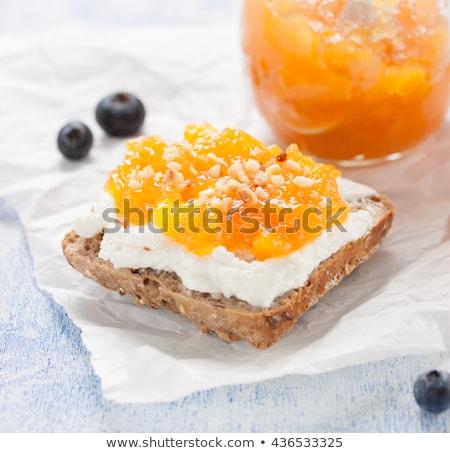 orange marmalade jam sandwich Stock photo © zkruger