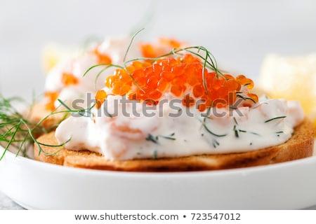焼いた エビ サンドイッチ カクテル ソース チェリートマト ストックフォト © fotogal