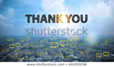 Köszönjük posta közelkép lövés Stock fotó © devon