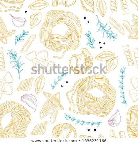 Pasta conchas secado color saludable Foto stock © raphotos