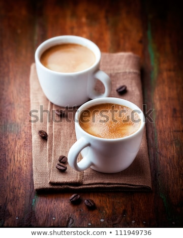 two cups of coffee and coffee beans Stock photo © mady70