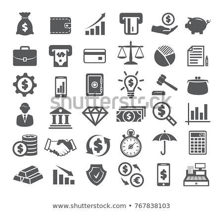 Search Gold Vector Icon Button Stock photo © rizwanali3d