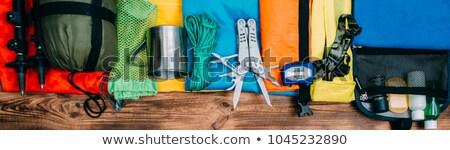 backpack and trekking poles Stock photo © PixelsAway