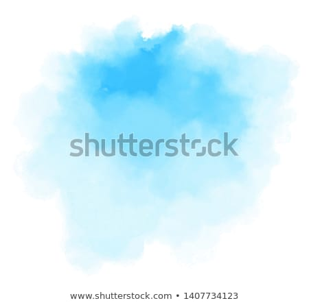 Blue watercolor spot. Vector illustration. Stock photo © gladiolus