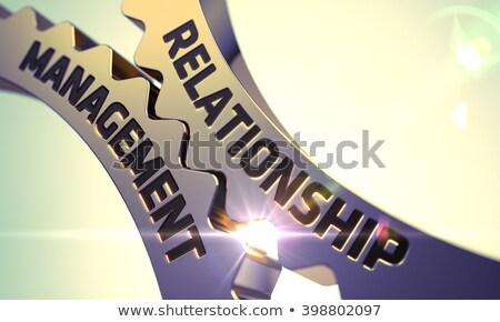 Relationship Management on the Cogwheels. Stock photo © tashatuvango