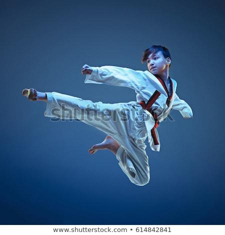 空手 子供 かわいい アジア 小 少女 ストックフォト © jeancliclac