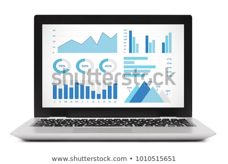 blank laptop on graphs and charts  Stock photo © vinnstock