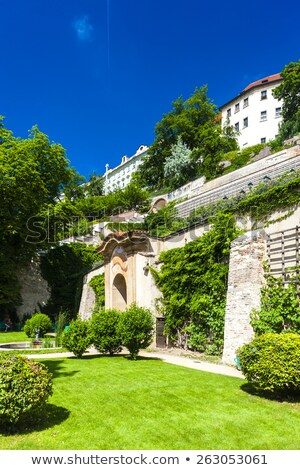 ledeburska garden and prague castle prague czech republic stock photo © phbcz