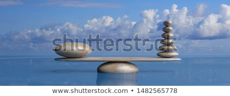 lake with large rocks stock photo © oleksandro