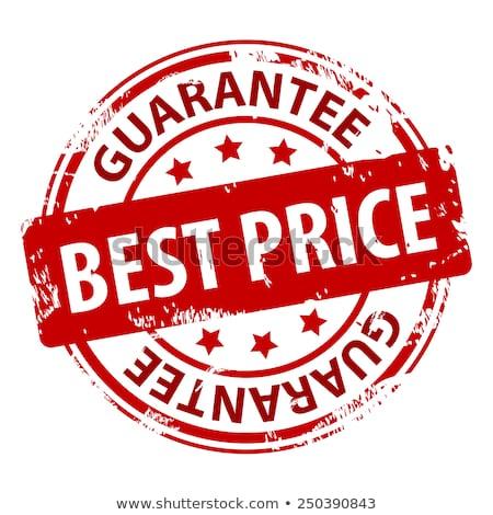 Rojo sello mejor precio marco escrito tienda Foto stock © Zerbor