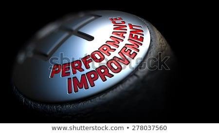 Performance Improvement. Gear Lever. Control Concept. Stock photo © tashatuvango