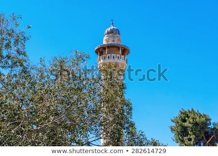Minaret enquête plate-forme Jérusalem vieille ville Israël Photo stock © Zhukow