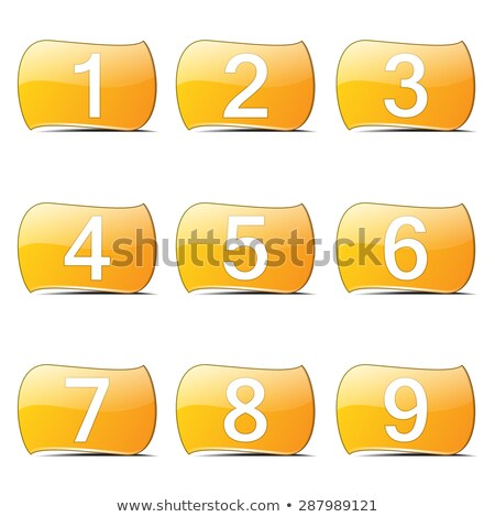 Numbers Counting Yellow Vector ButtonIcon Design Set Stock photo © rizwanali3d