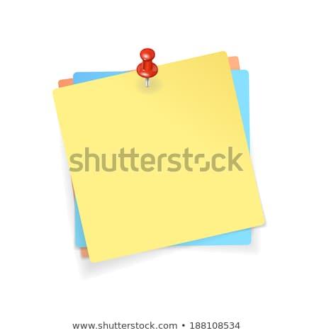 Info Rood sticky notes vector icon ontwerp Stockfoto © rizwanali3d