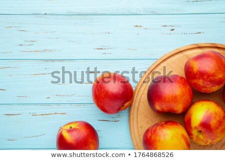 Azul cinco maduro cozinha toalha fruto Foto stock © dariazu