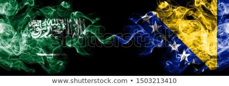 Arabia Saudita Bosnia Herzegovina banderas rompecabezas aislado blanco Foto stock © Istanbul2009