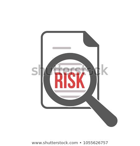 kockázat · közelkép · citromsárga · ceruza · szó · izolált - stock fotó © fuzzbones0