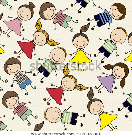 Colored Seamless pattern school board freehand drawing Stock photo © netkov1