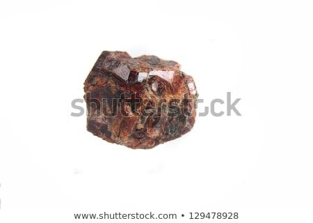 Mineral isoliert braun weiß Natur Hintergrund Stock foto © jonnysek