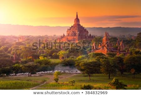 Sunset in Bagan Stock photo © bezikus
