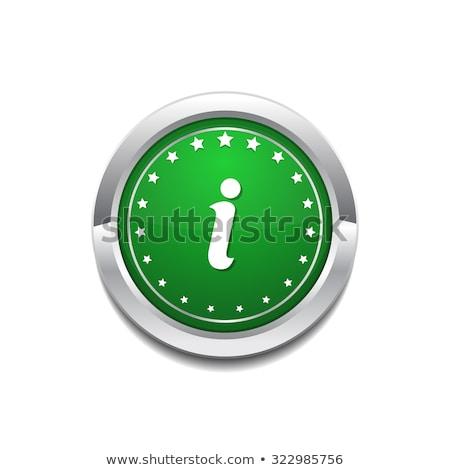 Info Circular Vector GreenWeb Icon Button Stock photo © rizwanali3d