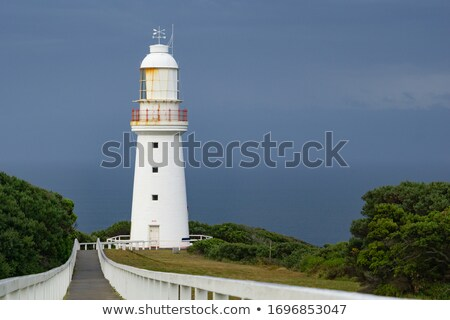 Historic Structure Outdoor Railing Lighthouse Tower Nautical Bea Stock photo © cboswell