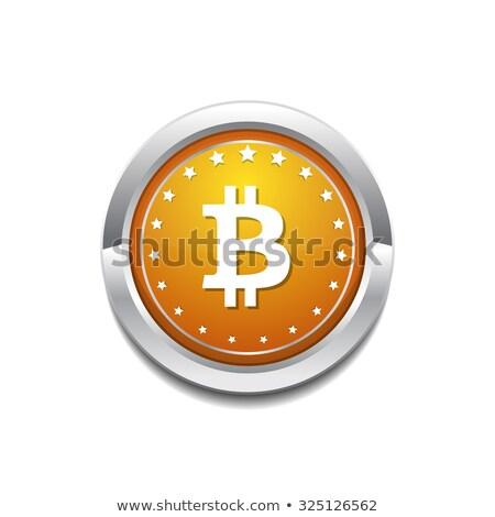 Bocado moeda ícone botão negócio dinheiro Foto stock © rizwanali3d
