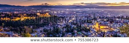 ストックフォト: パノラマ · 表示 · 市 · スペイン · 高い