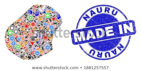 Nauru país bandera mapa forma texto Foto stock © tony4urban