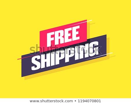 Stok fotoğraf: Free Shipping Red Vector Icon Design