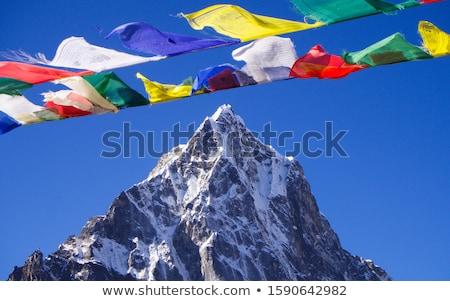montanhas · tibete · luz · neve · azul · viajar - foto stock © vapi